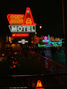 Cars Land is so pretty at night